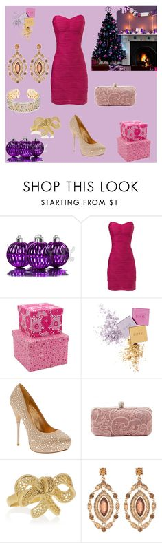 """Natal em Rosa"" by marlenewelke ❤ liked on Polyvore featuring Jane Norman, Monsoon, ALDO, Tacori, Mallarino and Addison"