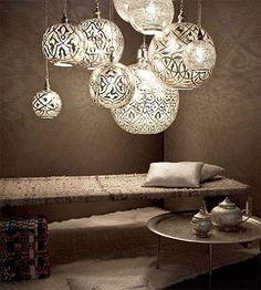 Home Decore Accessories: Unique pendant lights and Arabic decor accessories - Egyptian Style Home Lighting, Lighting Design, Pendant Lighting, Pendant Lamps, Unique Chandelier, Lantern Lighting, Lighting Ideas, Brass Pendant, Handmade Chandelier