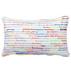 Bombay Text Design II Lumbar Pillow