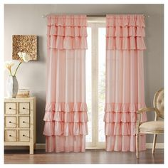 Shop for The Gray Barn Margoyles Cotton Oversized Ruffle Curtain Panel. Get free delivery On EVERYTHING* Overstock - Your Online Home Decor Outlet Store! Get in rewards with Club O! Diy Room Decor, Bedroom Decor, Curtain Designs, Home Room Design, Drapes Curtains, Curtains For Bedroom, Pink Ruffle Curtains, Cotton Curtains, Home Decor Furniture