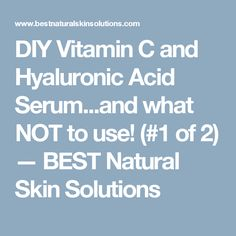 Diy hyaluronic acid serum seriously has transformed my skin and diy vitamin c and hyaluronic acid serumd what not to use 1 of 2 solutioingenieria Images