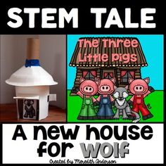 The Three Little Pigs STEM Activity - A New. by Meredith Anderson - Momgineer School Age Activities, Kindergarten Activities, Stem Activities, Activities For Kids, Reading Activities, Kindergarten Classroom, Fairy Tale Activities, Traditional Tales, Three Little Pigs