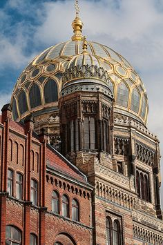The New Synagogue in Berlin, Germany - built originally in 1859–66, was demolished in World War II but completely reconstructed in 1988–95