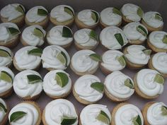 keylime cupcakes/limes, cute for fiesta theme :)