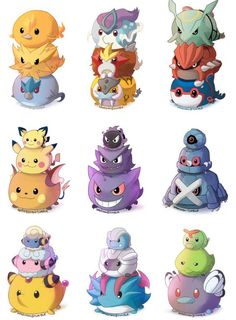 Artist reimagines Pokemon and their evolutions as cute Tsum Tsum! << Make these real! They are too cute! Pokemon Go, Pikachu, Groudon Pokemon, Fotos Do Pokemon, Pokemon Memes, Pokemon Fan Art, Pokemon Fusion, Charizard, Pokemon Mignon