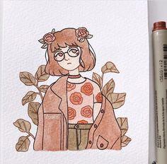 Pencil Art Drawings, Art Drawings Sketches, Cartoon Drawings, Cute Drawings, Art And Illustration, Watercolor Illustration, Watercolor Art, Cartoon Art Styles, Cute Art Styles