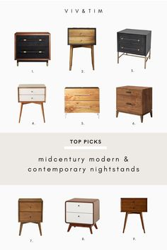 While selecting new nightstands for our master bedroom, I searched through a bunch of our go-to modern furniture shops. Here are some of the nightstands that made it to the top of our list to be considered for our master bedroom design.