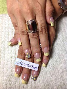 Amarillo gris French Nail Art, French Tip Nails, Beautiful Nail Designs, Cool Nail Designs, Nails Now, My Nails, Fabulous Nails, Gorgeous Nails, Cute Nails