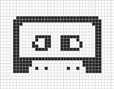 Cross stitch pattern for cassette tape. ST!#CH OUT LOUD: It's the Final Countdown - DAY 1