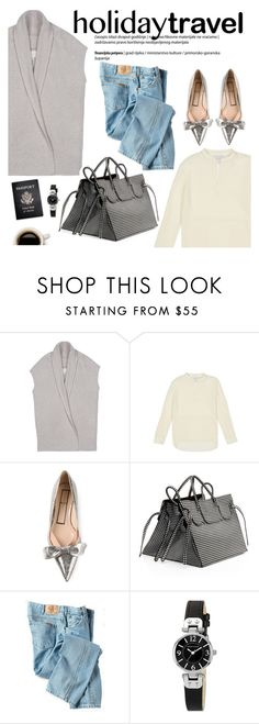 """""""holiday travel"""" by brochuwalker ❤ liked on Polyvore featuring Brochu Walker, N°21, Slow and Steady Wins the Race, Dickies, Passport and AK Anne Klein"""