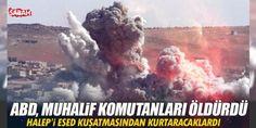 ABD Suriye'de Muhalif komutanları vurdu!: Suriye'de Türkiye DAEŞ ve YPG ile mücadelesini sürdürürken ABD uçakları Halep'i koruyan muhalif komutanların toplantısını bombaladı. Saldırıda Fetih Ordusu Komutanı Ebu Ömer Serakip ve Şam Fethi Cephesi...