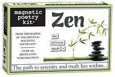 Magnetic Poetry - Zen Kit Magnetic Poetry http://smile.amazon.com/dp/B00BC5L6AU/ref=cm_sw_r_pi_dp_VTO1vb0EBGAN1
