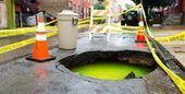 Another sinkhole opens in Philadelphia, exposes green fluorescent water under city! -- Sott.net