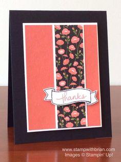Endless Thanks, Pretty Petals Designer Series Paper Stack, Stampin' Up!, Brian King