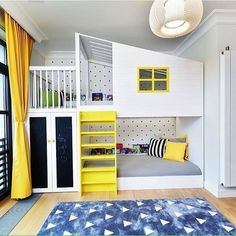 15 Inspirational Examples To Refresh The Kids Room With Yellow Details More