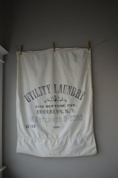 Vintage Laundry Sack by housewarming101 on Etsy, $125.00