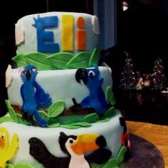 Made by: Danetta Workman Rio Birthday Cake, Rio Birthday Parties, 3rd Birthday, Birthday Ideas, Rio Cake, Rio Party, Fun Ideas, Party Ideas, Close Close