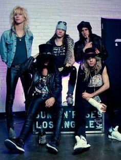 Guns N' Roses, Left to rightDuff Mckagan Slash Axl Rose Izzy Stradlin and Steven Adler. Guns N Roses, Duff Mckagan, Axl Rose, Dave Matthews Band, Rock And Roll Bands, Rock N Roll, Heavy Metal, Roses Tumblr, Steven Adler