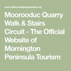 Moorooduc Quarry Walk & Stairs Circuit - The Official Website of Mornington Peninsula Tourism Swimming Holes, Circuit, Tourism, Stairs, Walking, Activities, Website, Turismo, Stairway