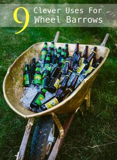 9 Clever Uses For Wheel Barrows You Probably Never Considered | http://homestead-and-survival.com/9-clever-uses-for-wheel-barrows-you-probably-never-considered/