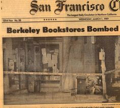 Berkeley Bookstores Bombed for Selling Salman Rushdie's Satanic Verses/SF Chronicle 1989