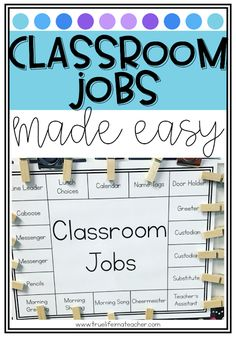 how to create a classroom job chart that is easy, simple, and effective.You can find Ch.Learn how to create a classroom job chart that is easy, simple, and effective.You can find Ch. Classroom Job Chart, 2nd Grade Classroom, Classroom Community, Classroom Setting, Classroom Setup, School Classroom, Future Classroom, Classroom Libraries, Classroom Routines