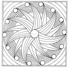 Pattern Coloring Pages, Free Adult Coloring Pages, Mandala Coloring Pages, Free Printable Coloring Pages, Colouring Pages, Coloring Books, Mandala Canvas, Mandala Artwork, Mandala Painting