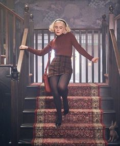 Fall Outfits, Cute Outfits, Fashion Outfits, Aesthetic Fashion, Aesthetic Clothes, Sabrina Costume, Sabrina Cast, Mode Gossip Girl, Looks Teen