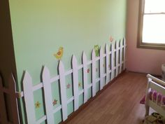 Picket fence in my daughters room.