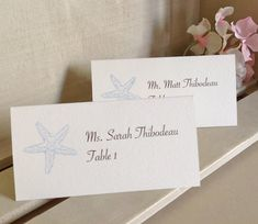 Beach Wedding Name Cards