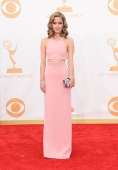 Who Wore What: Emmy Awards: Rose Byrne, Calvin Klein Collection