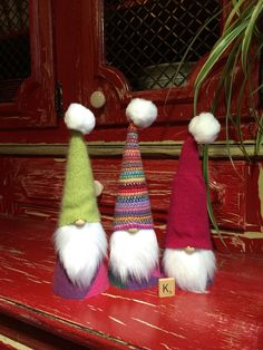 """Adorable Sweater Gnomes, set of 3, Sweet gift idea, group """"K"""", tomte/tomten, nisse/nissen by Gnomes4theHolidays on Etsy"""