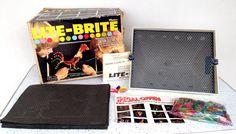 Vintage Lite Brite w/ Sheets & Pegs Hasbro 1977 #Classic #Litebrite #Hasbro #70s #Toys #Thriftytrendzbyjuls