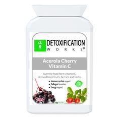 Acerola Cherry Vitamin C - Detoxification Works ® diet and nutrition weights Vitamin C Supplement, Vitamin C Benefits, Body Detoxification, Diet And Nutrition, Health Diet, Good Manufacturing Practice, Detox Your Body, Alternative Medicine, Herbalism