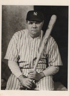 fe765f7c446 Babe Ruth postcard Hagins collction. Sports Baseball
