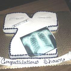 Shawn's cake for Radiological Tech graduation.