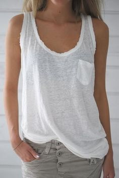 CHILL NORWAY - SIBELA SINGLET - OFF WHITE - yourfashion.co