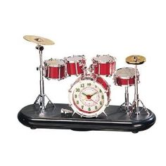 Drum Set Tabletop Alarm Clock this might be able to help wake me up in the morning!  sc 1 st  Pinterest & Drums Grey Poster 12