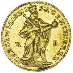 Karl VI. 1711 - 1740,  Dukat 1735 KB Gold
