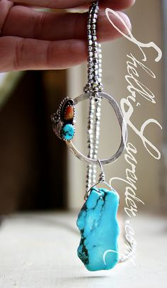 http://shelbilavender.com/necklaces-2/6743540601_7545130855_z/ Direct link, silver and turquoise $95