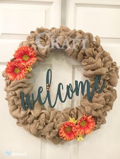 "Handcrafted ready made burlap wreath. Wreath is constructed on an 18"" wire frame and 20-25 yards of burlap ribbon for lots of fullness. This item is ready for pickup or shipping. Options available as"