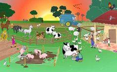 Praatplaat boerderij Nursery Activities, Book Activities, Zoo Animals, Animals And Pets, Opposite Words For Kids, Cartoon Butterfly, Farm Pictures, Picture Composition, Kids Story Books