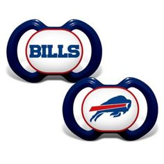 This NFL Buffalo Bills Pacifier shows off your family's team pride and is ideal for keeping babies calm during the game. This has an orthodontic-shaped silicone nipple for comfort and features a plastic handle and the Bills logo right on the front.