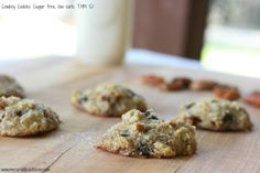 A sugar free, low carb, THM S cookie recipe that will remind you of Cowboy Cookies!