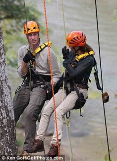 Kate Middleton forgets her troubles by being hoisted up a 120ft tree in a rainforest | Mail Online
