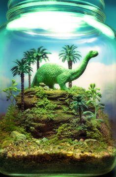 Brontosaurus Garden Terrarium Diorama by Megatone230 on Etsy, $84.00
