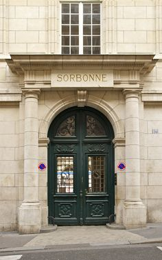 Entrée latérale de la Sorbonne from rue de la Sorbonne, the main entrance into the courtyard is from rue des Ecoles.- Paris