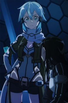 I always enjoy scenes with Sinon, which may have something to do with her cool costume. XD
