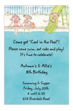 71 Best Pool Party Invitations Images Pool Parties Swimming Pool