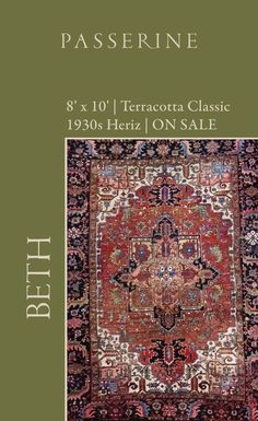 Beth is a lovely classic heriz, featuring a geometric central medallion and oversized leaves and floral motifs. Interior Design Photos, Beautiful Interior Design, Interior Design Inspiration, Home Decor Inspiration, Bohemian Decor, Boho Chic, Vintage Rugs, Vintage Items, Or Antique